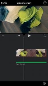 Ansicht Video gedreht